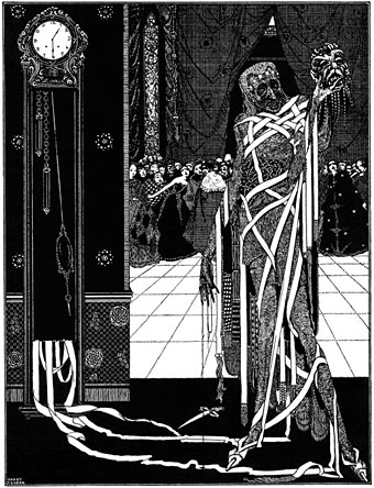 poes use of heavy symbolism in the mask of red death Dichotomy of colors in poe's the masque (mask) of the red death essay - dichotomy of colors in the masque of red death in the masque of red death, poe uses aural, visual, and kinetic images to create the effect of fear in a joyful masque.