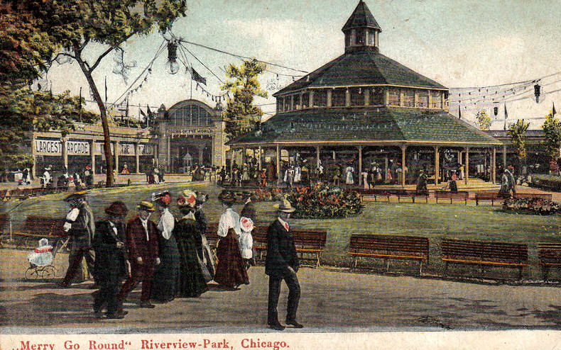 File:Merry Go Round Riverview Park Chicago 1906.JPG
