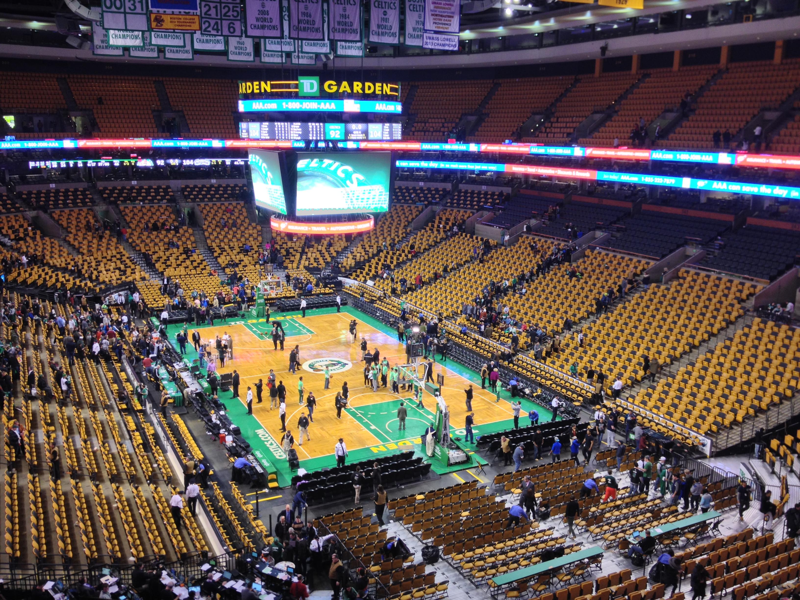 Celtics td garden garden ftempo for Td garden address