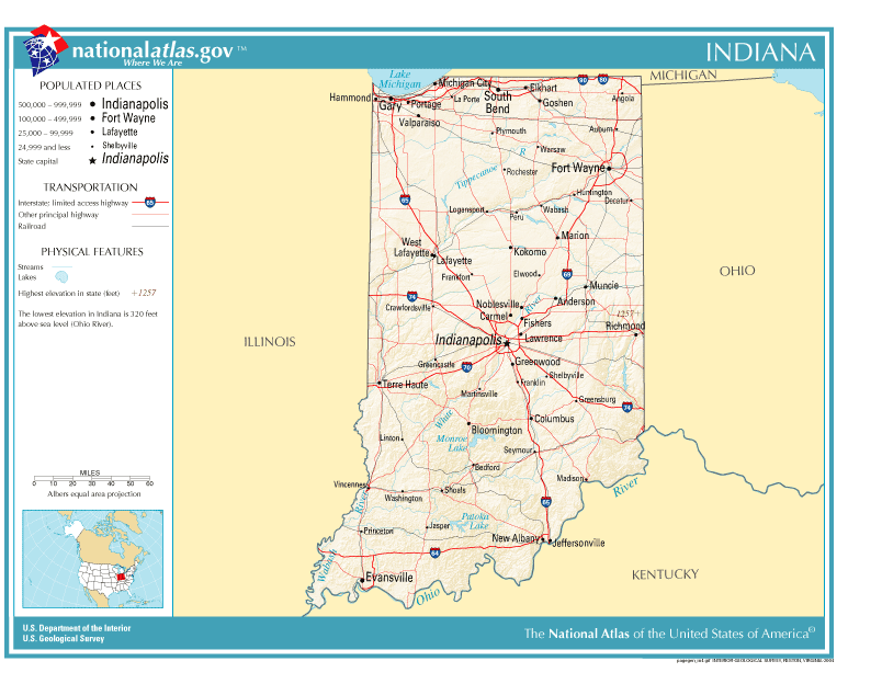 Indiana Wikipedia - Map of indiana cities