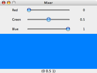 a simple colour mixer