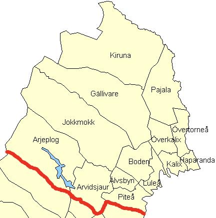 Лен Норрботтен, карта