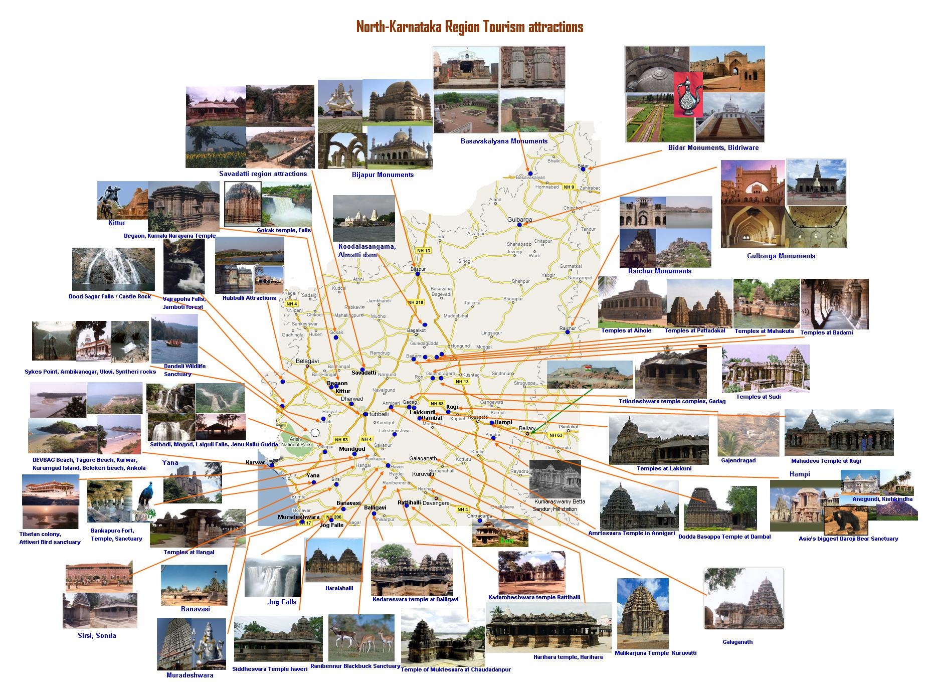 Tourist Places In South India Map – South India Map With Tourist Places