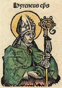 Irenaeus in the Nuremberg Chronicle Nuremberg chronicles f 116r 1.png