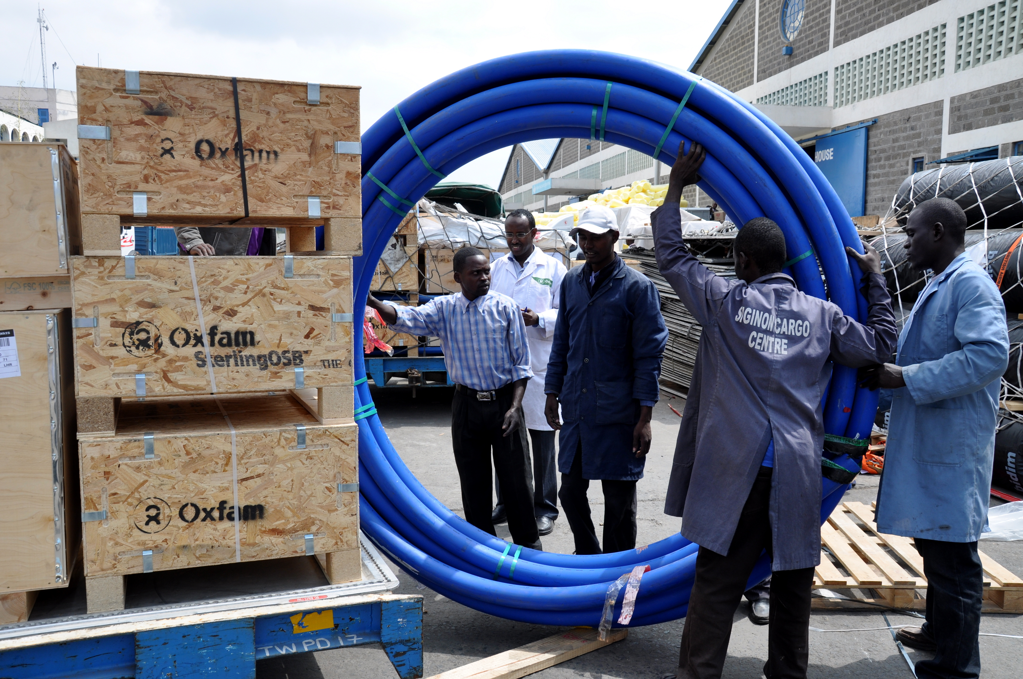 Water piping will help provide clean water to ...