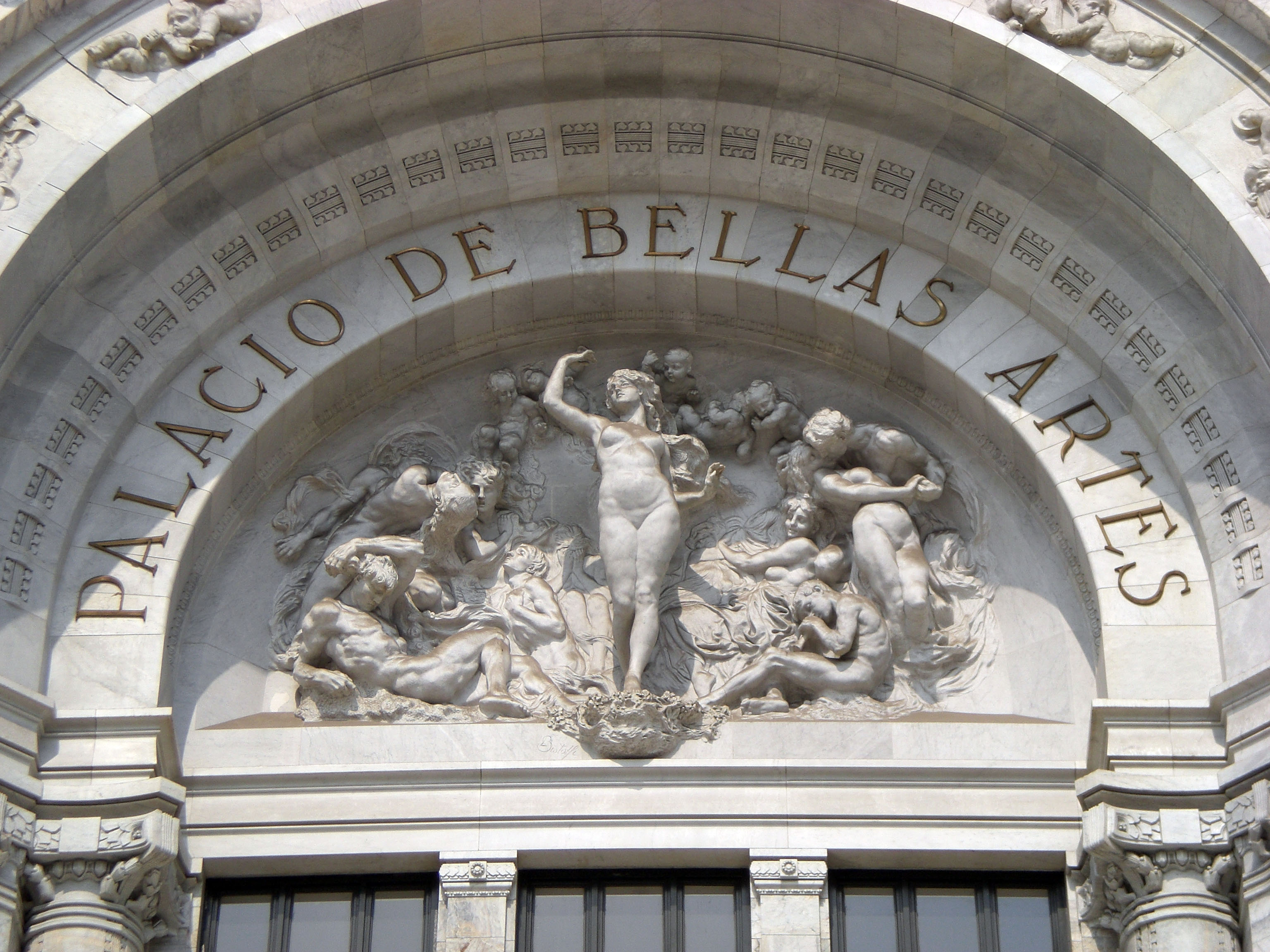 Palacio de bellas artes for Escultura mural