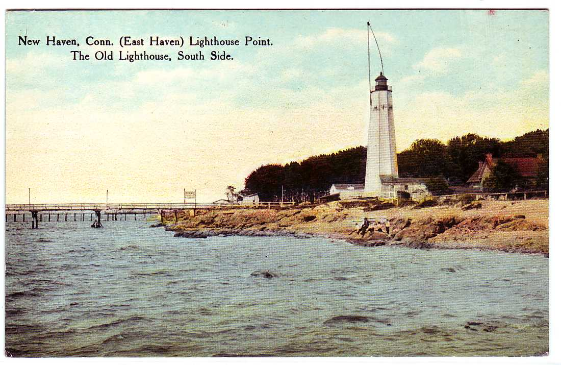 East Haven (CT) United States  city photos gallery : PostcardLighthouseSouthSideEastHavenCT Wikipedia, the free ...