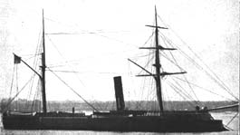 The Confederacy's French-built ironclad Cheops (sister ship to CSS Stonewall) later the Prussian navy's SMS Prinz Adalbert PrinzAdalbertBordeaux.jpg