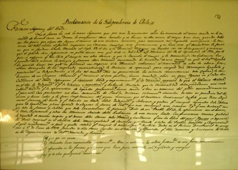 Depiction of Acta de Independencia de Chile