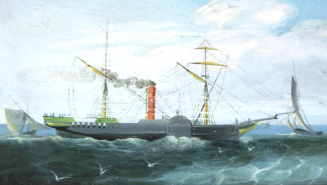 SS Forfarshire from a Contemporary Painting