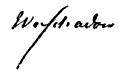 Wilhelm Schadow 1821 (Zeichnung von Carl Christian Vogel von Vogelstein). Schadows Unterschrift: (Quelle: Wikimedia)