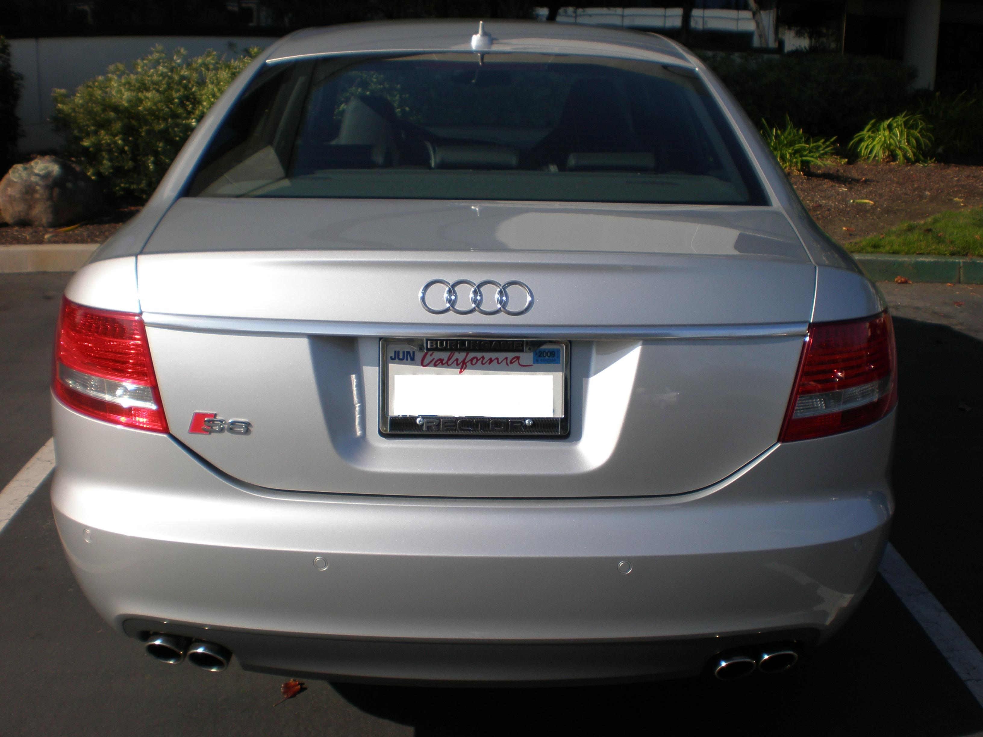 File Silver Audi S6 Rear Jpg Wikimedia Commons