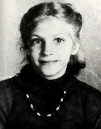 Davis in a school photo, at the age of ten.