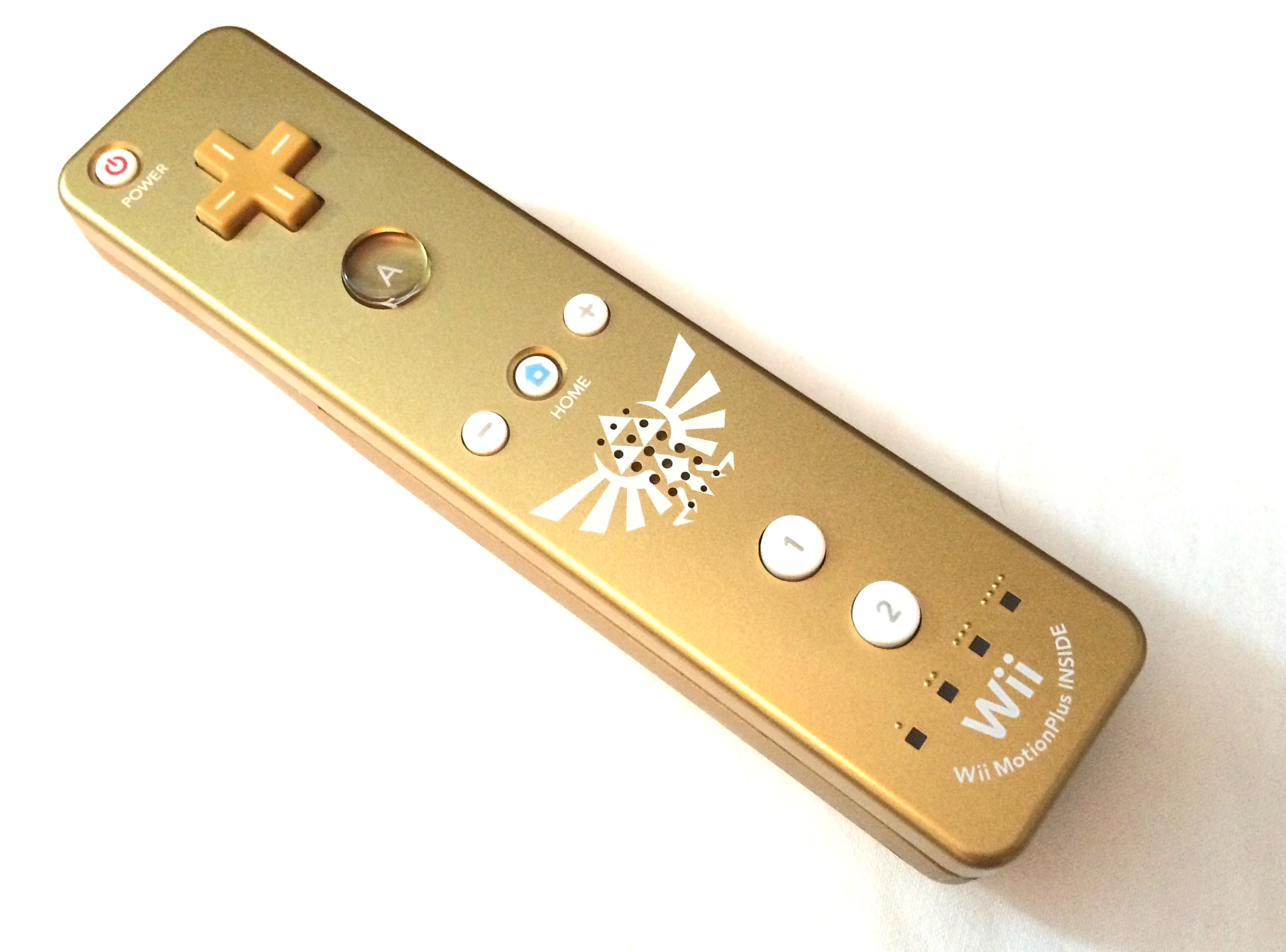 Zelda: skyward sword gold wii remote controller from limited.