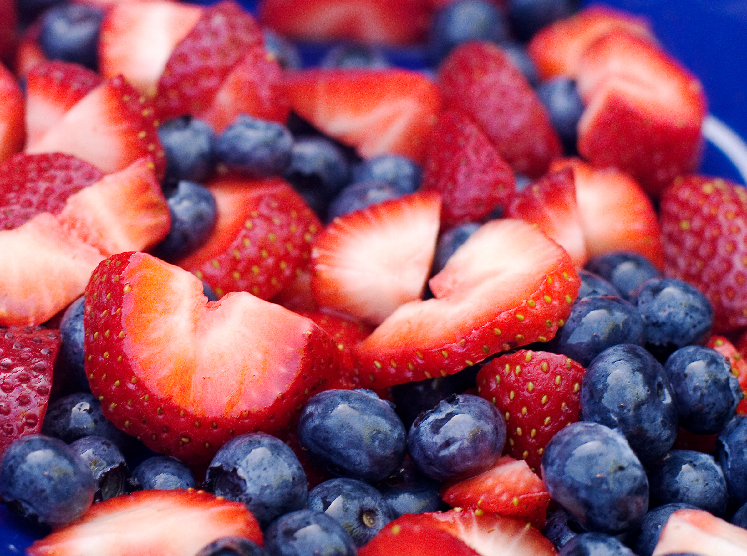 Not only are blueberries and strawberries delicious, they are also good for the brain!