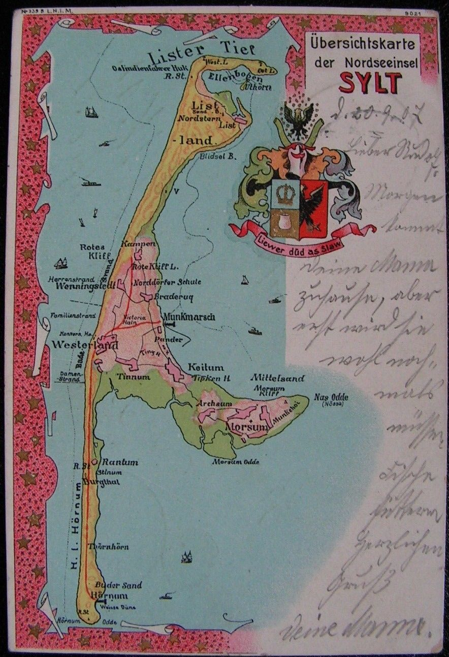 Karte Von Sylt.File Sylt Alte Karte Jpg Wikimedia Commons