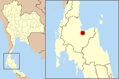 Location o Surat Thani in Thailand.