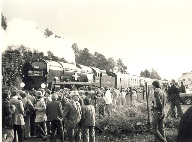 The Citadel Express at Armathwaite railway station in 1978