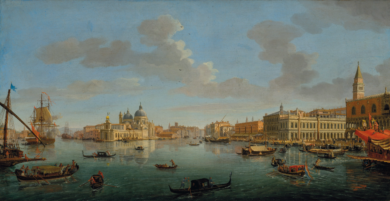 The Molo, Venice, Looking West towards the Entrance of the Grand Canal by Gaspar van Wittel.png