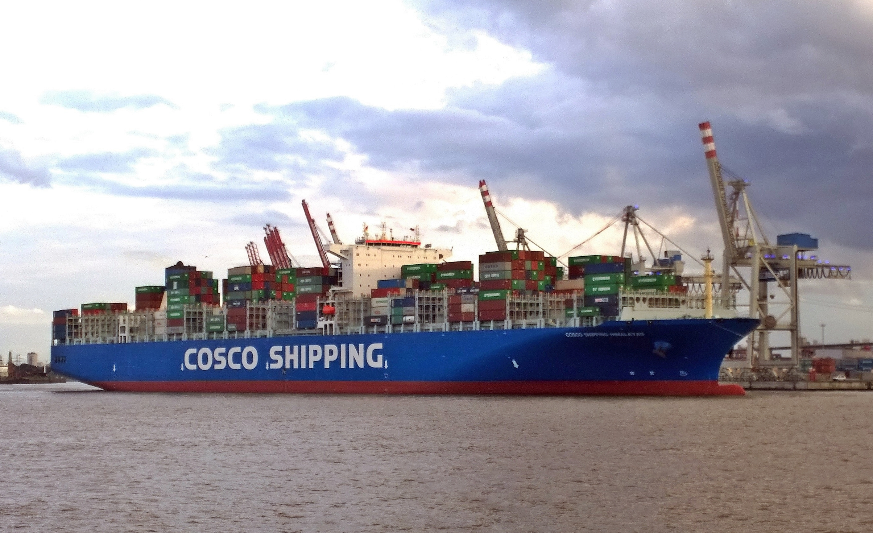 dateithe new container ship cosco shipping himalayas in