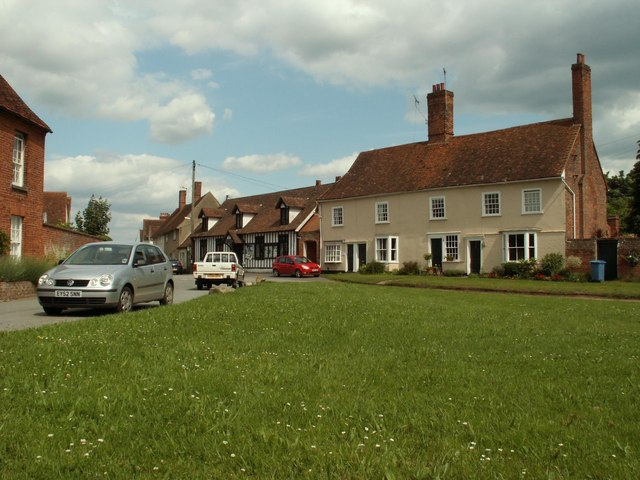 The small village green at Stoke-by-Nayland - geograph.org.uk - 846477