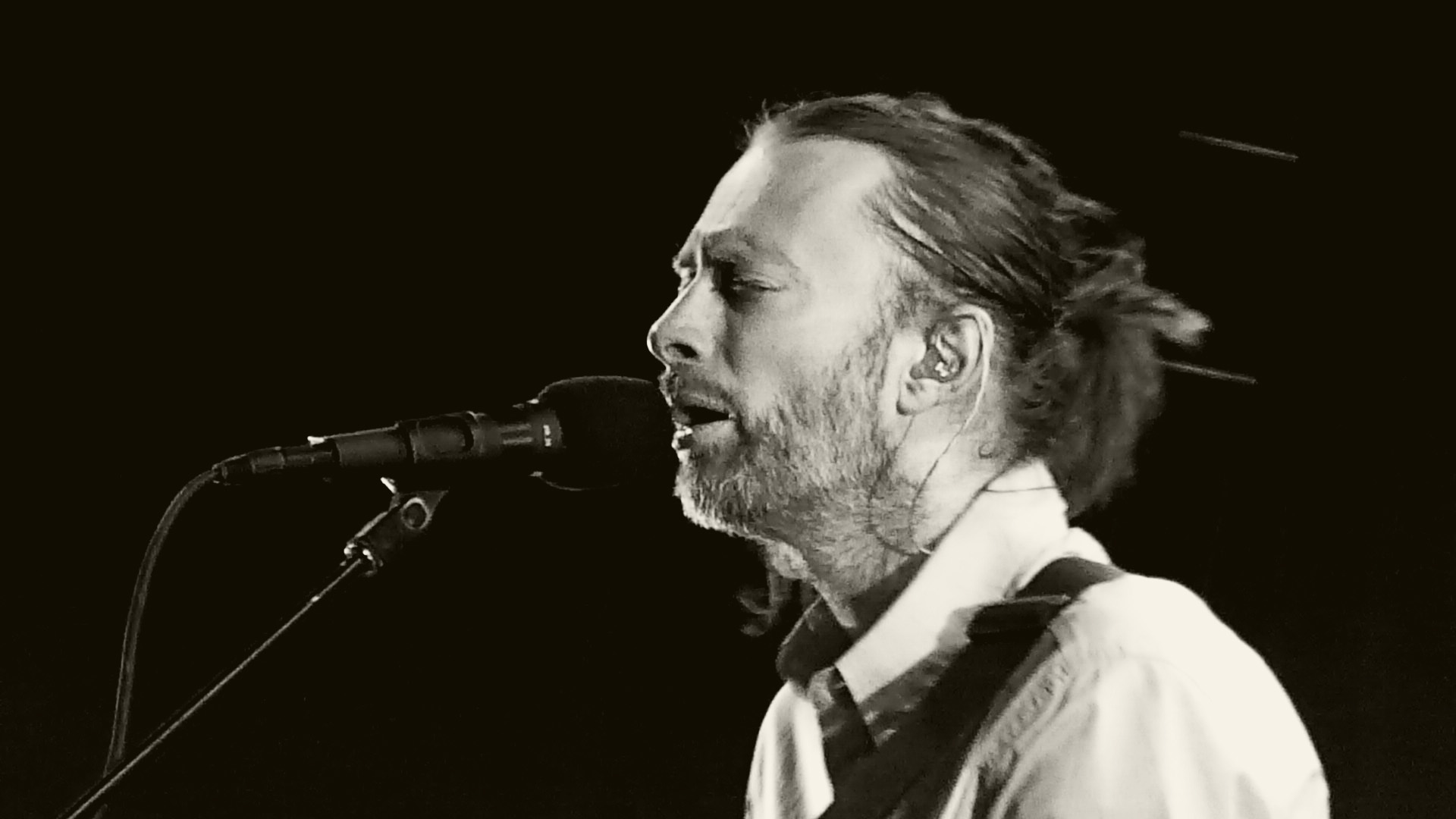 Thom Yorke en un concierto con Radiohead en 2012.
