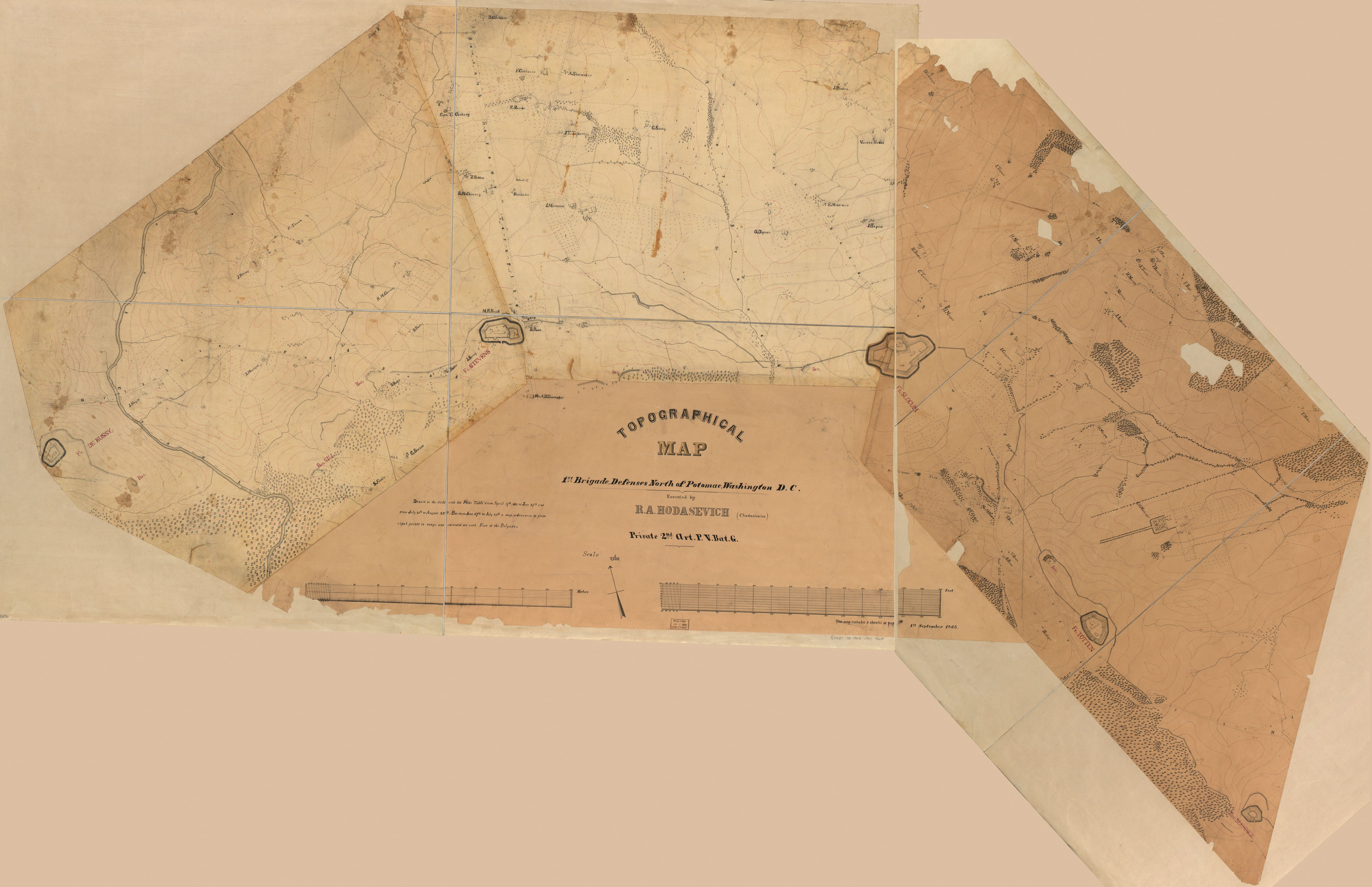 Topographic Map Washington Dc.File Topographical Map 1st Brigade Defenses North Of Potomac