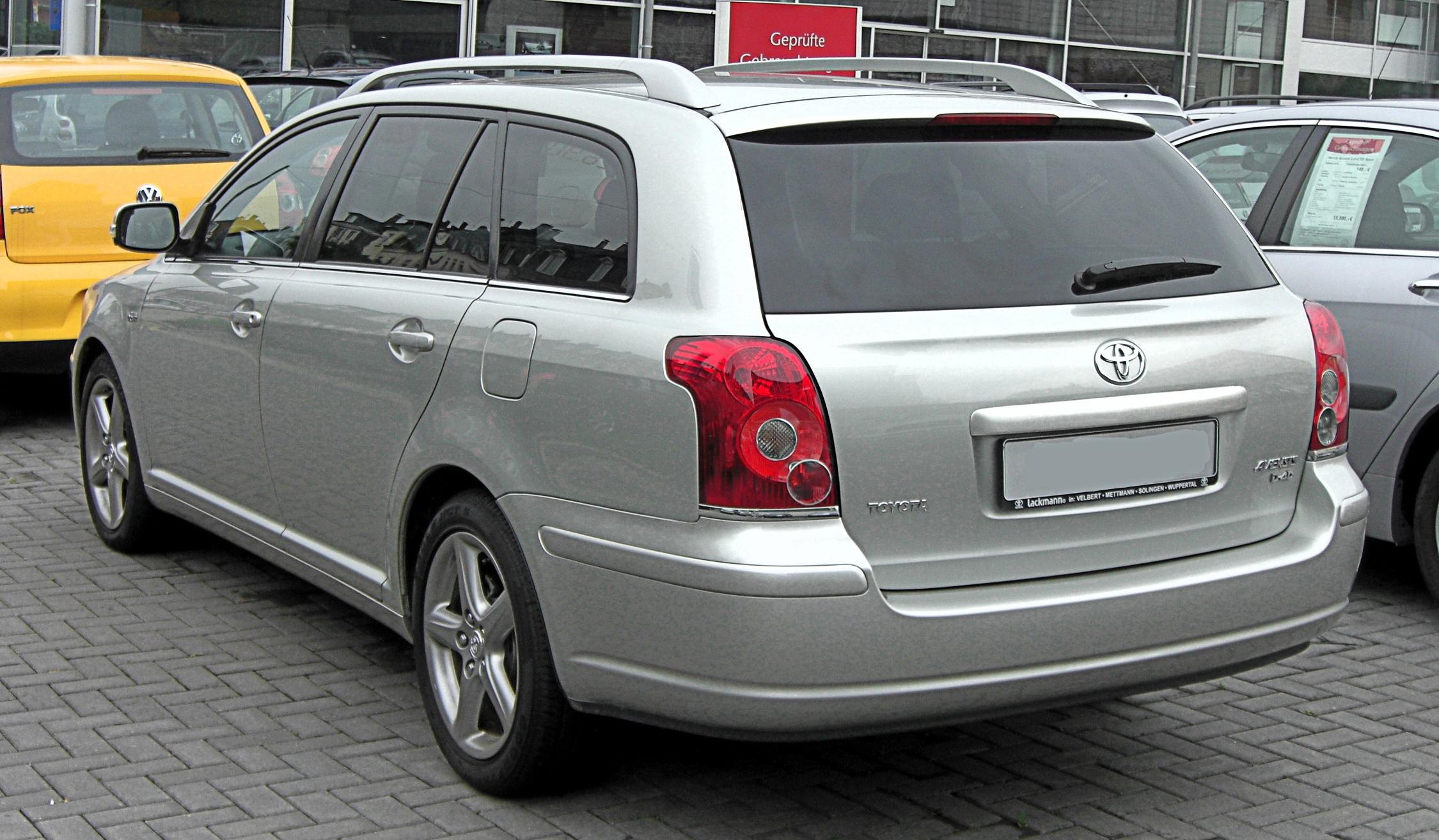 file toyota avensis combi ii facelift rear jpg wikimedia. Black Bedroom Furniture Sets. Home Design Ideas