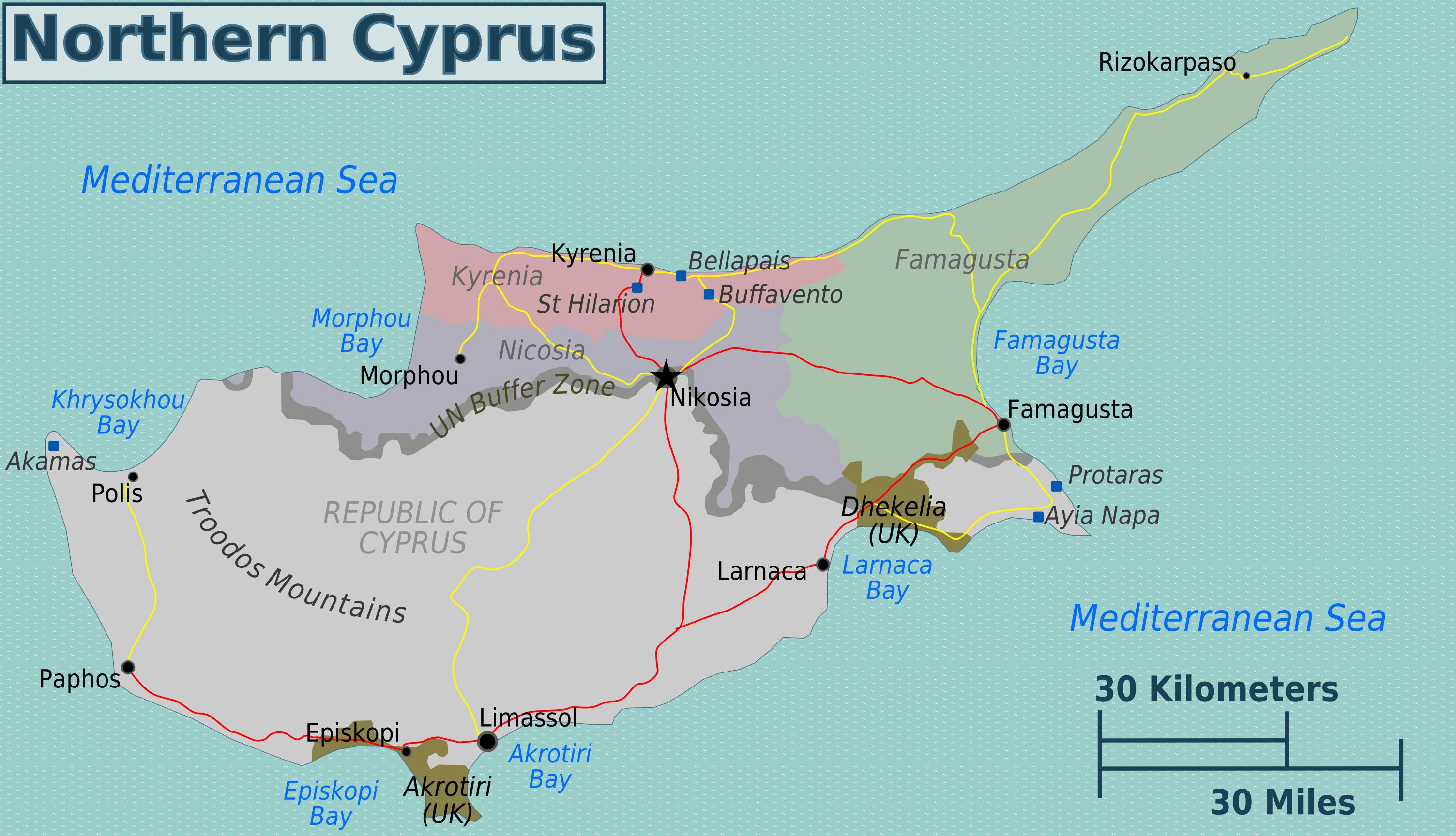 FileTurkish Cyprus regions mappng Wikimedia Commons
