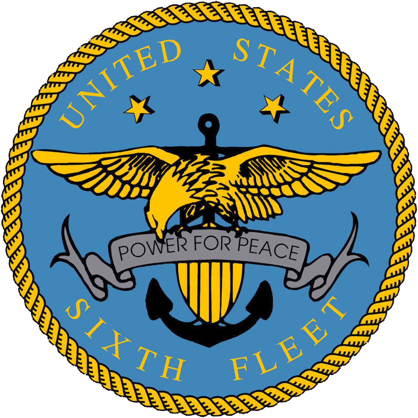 file us sixth fleet logo high resolution version jpg wikimedia commons rh commons wikimedia org us naval academy logo vector us navy anchor logo vector