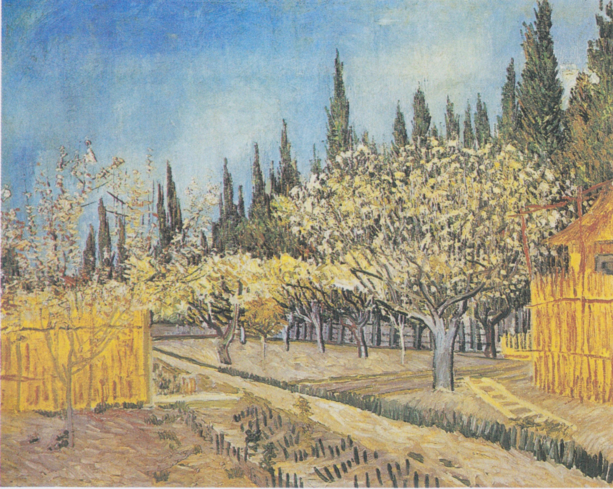 Briefe Von Van Gogh : File van gogh blühender obstgarten von zypressen