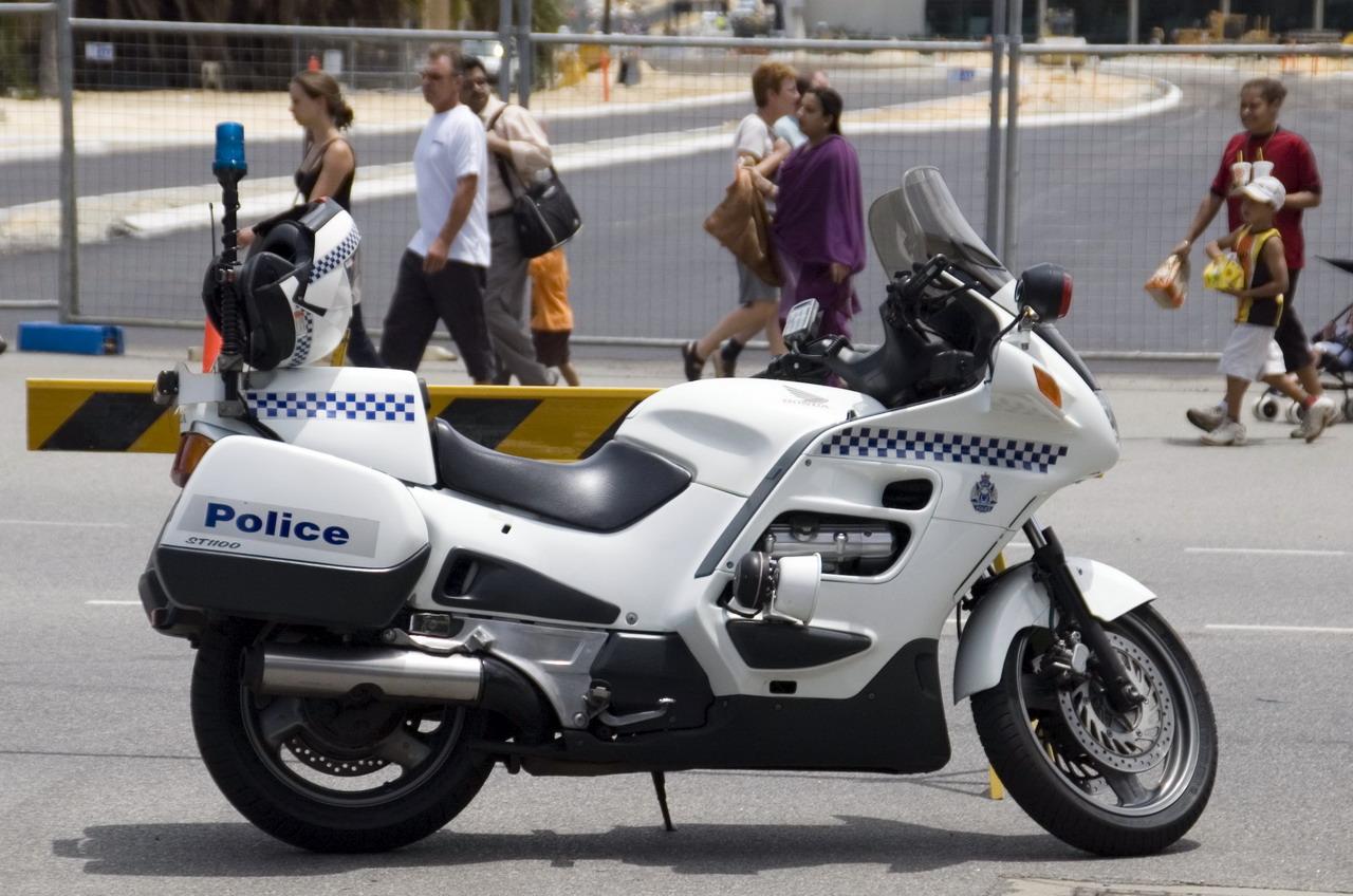 File Wa Police Motorbike Jpg Wikipedia