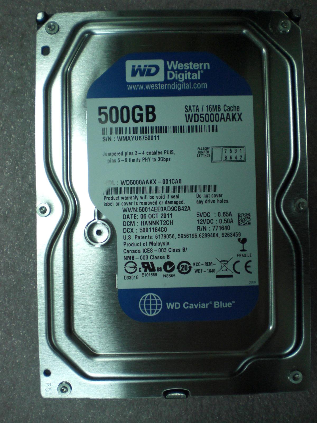 Расширяем стандартные возможности жесткого диска - хакер wd5000aakx прошивка