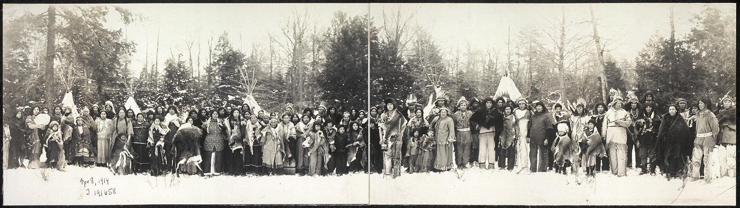 Iroquois in Buffalo, New York, 1914.
