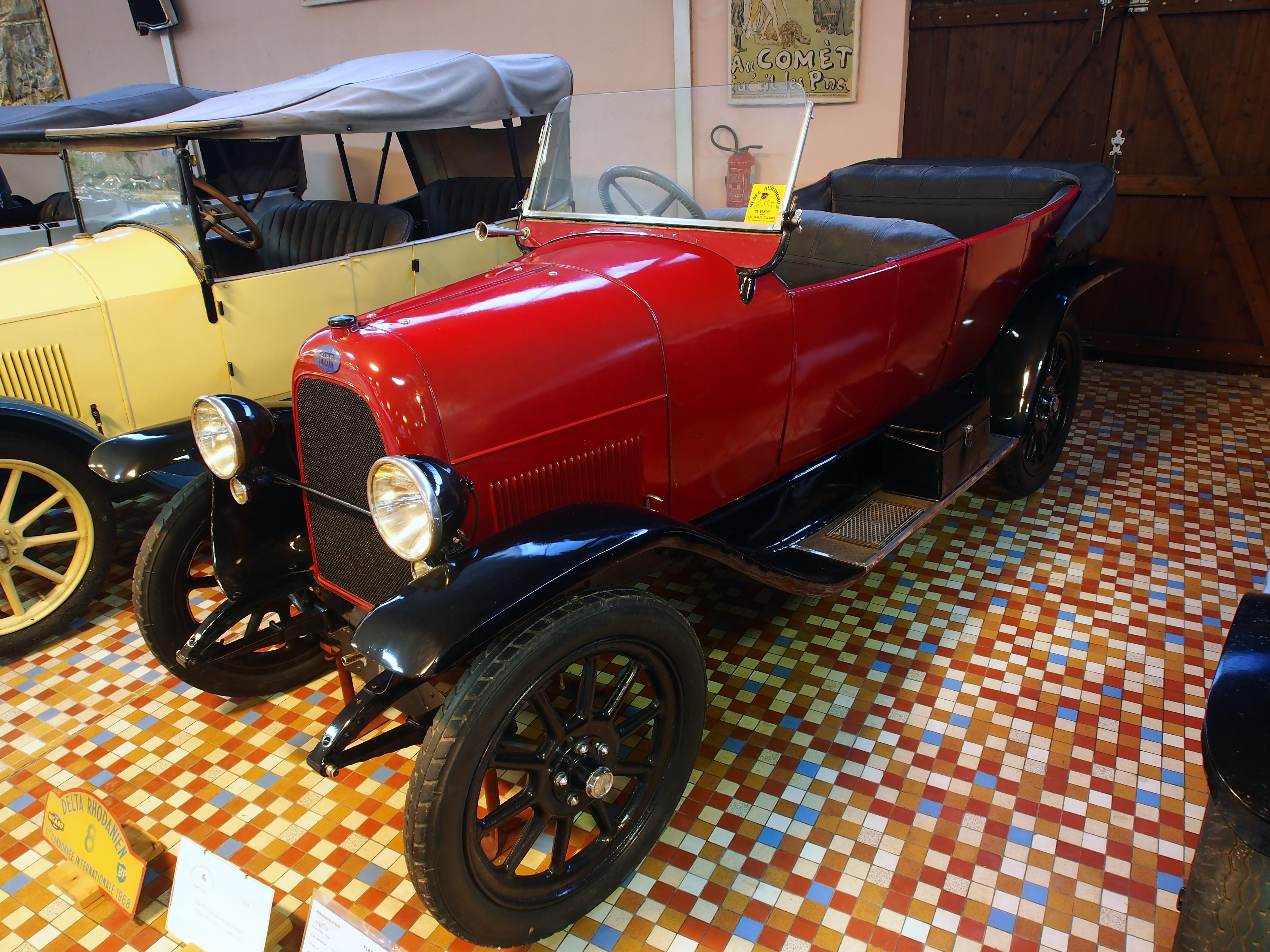 file 1921 fiat 501 torpedo 10cv 1450cc 4cyl at the mus e automobile de vend e pic 1 jpg. Black Bedroom Furniture Sets. Home Design Ideas