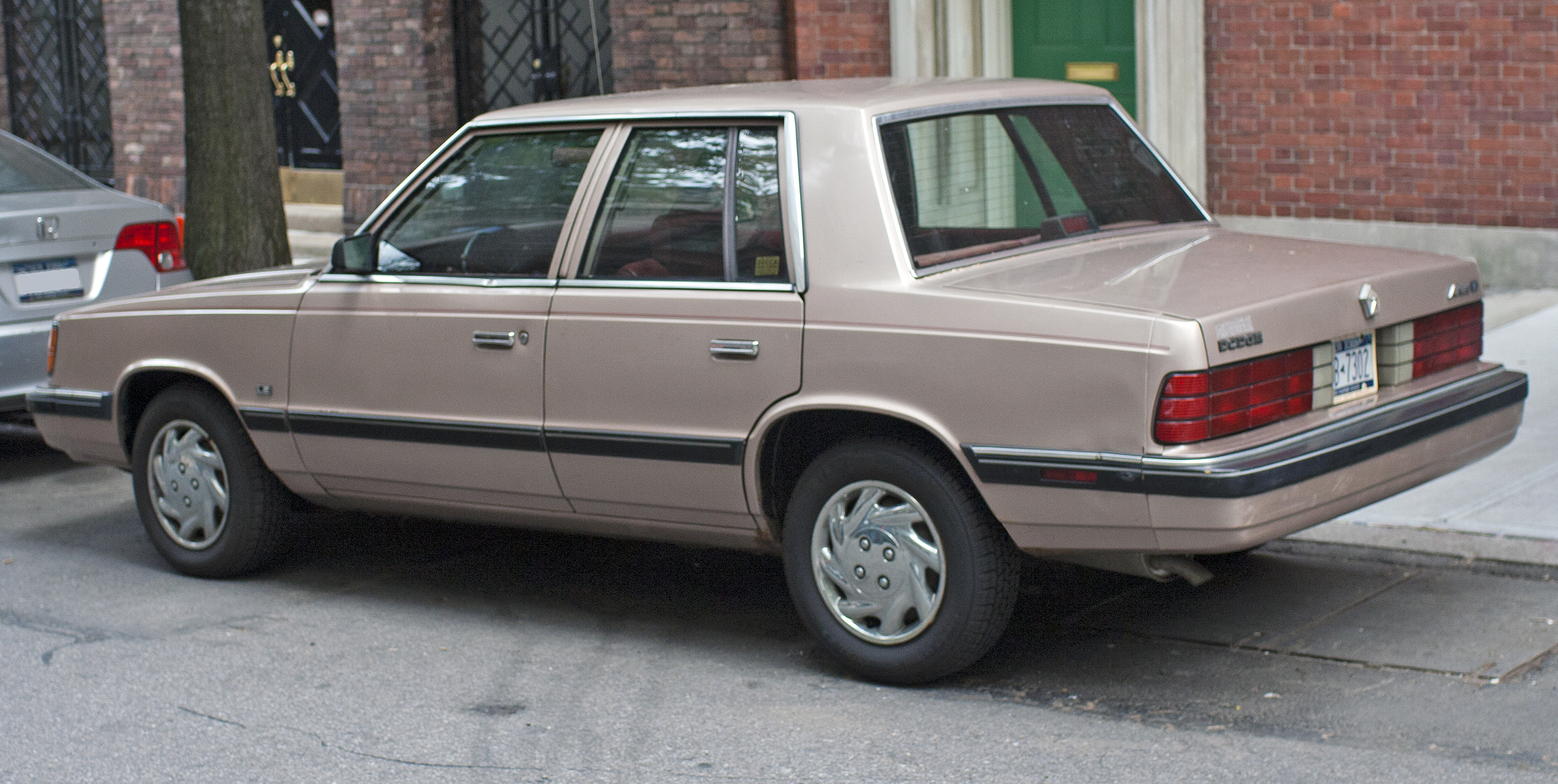 Dodge Build Your Own >> File:1988 Dodge Aries rear.jpg