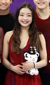 2018 Winter Olympic Games Dance Podium (cropped) - Maia Shibutani.jpg