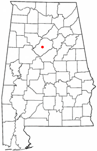 Location of McDonald Chapel, Alabama
