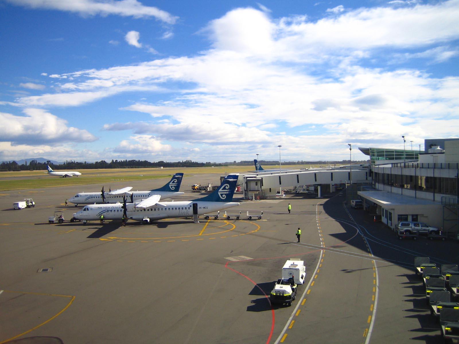 Depiction of Aeropuerto Internacional de Christchurch