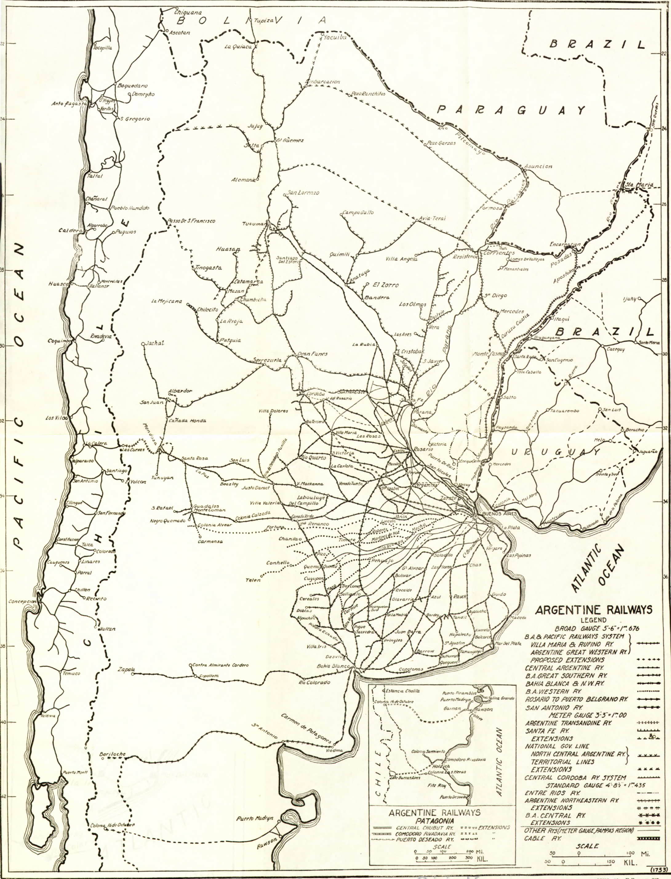 Argentina Rail Map - Argentine railway map