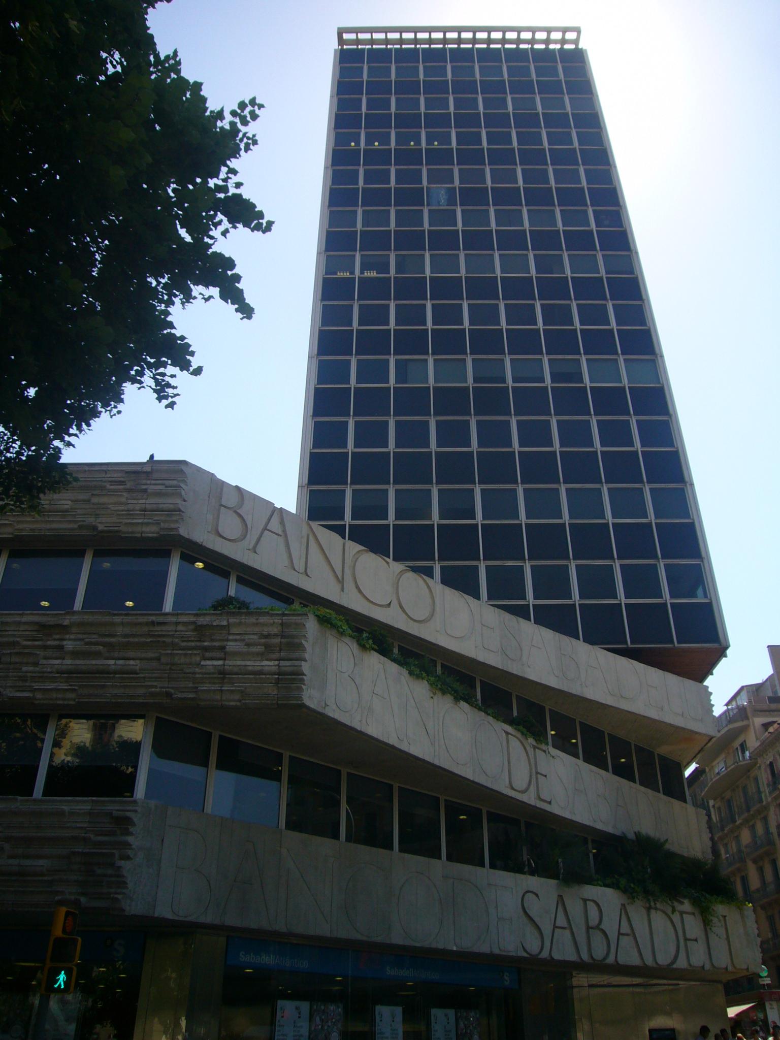 File banc de sabadell rambla de catalunya rossell jpg - Oficinas banc sabadell barcelona ...