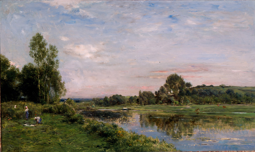 File Banks Of The Oise River By Charles Francois Daubigny