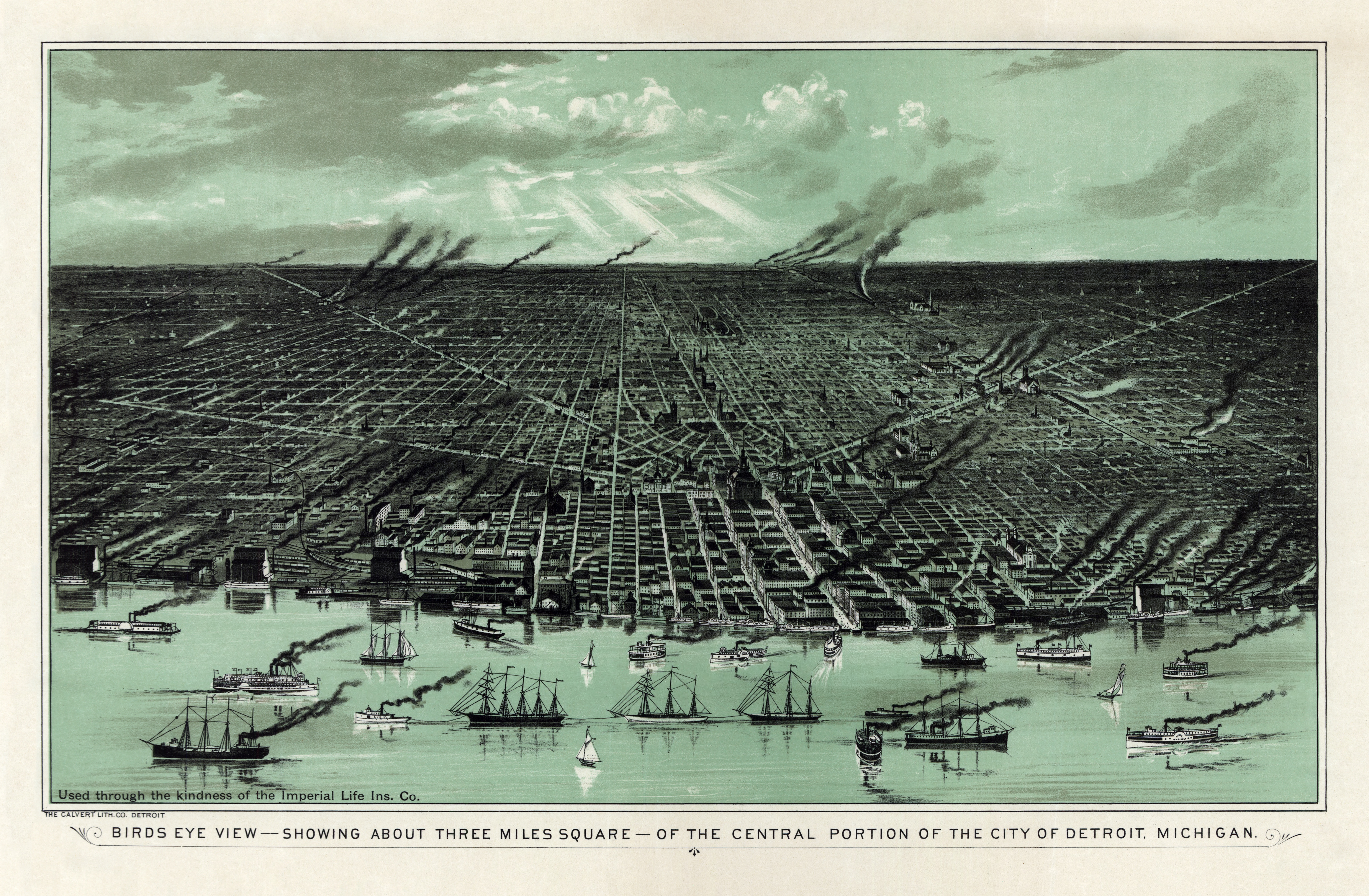 Detroit in the 1880s History of Detroit