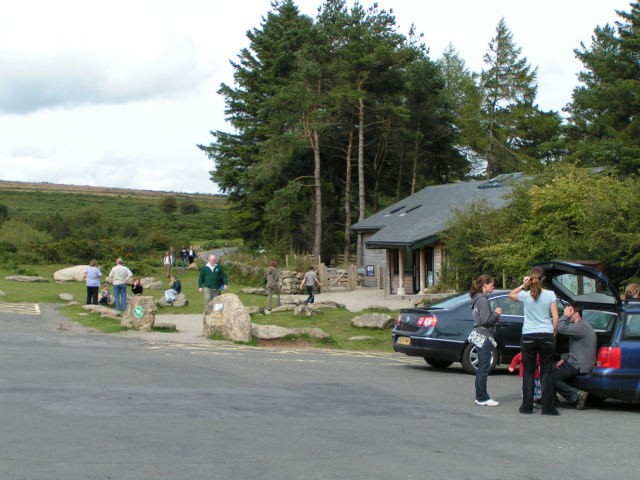 Car park and visitors' centre at Haytor - geograph.org.uk - 1424713