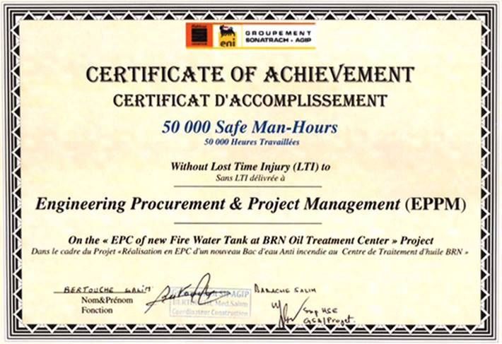 File Certificate Of Achievement 50 000 Safe Man Hours Jpg