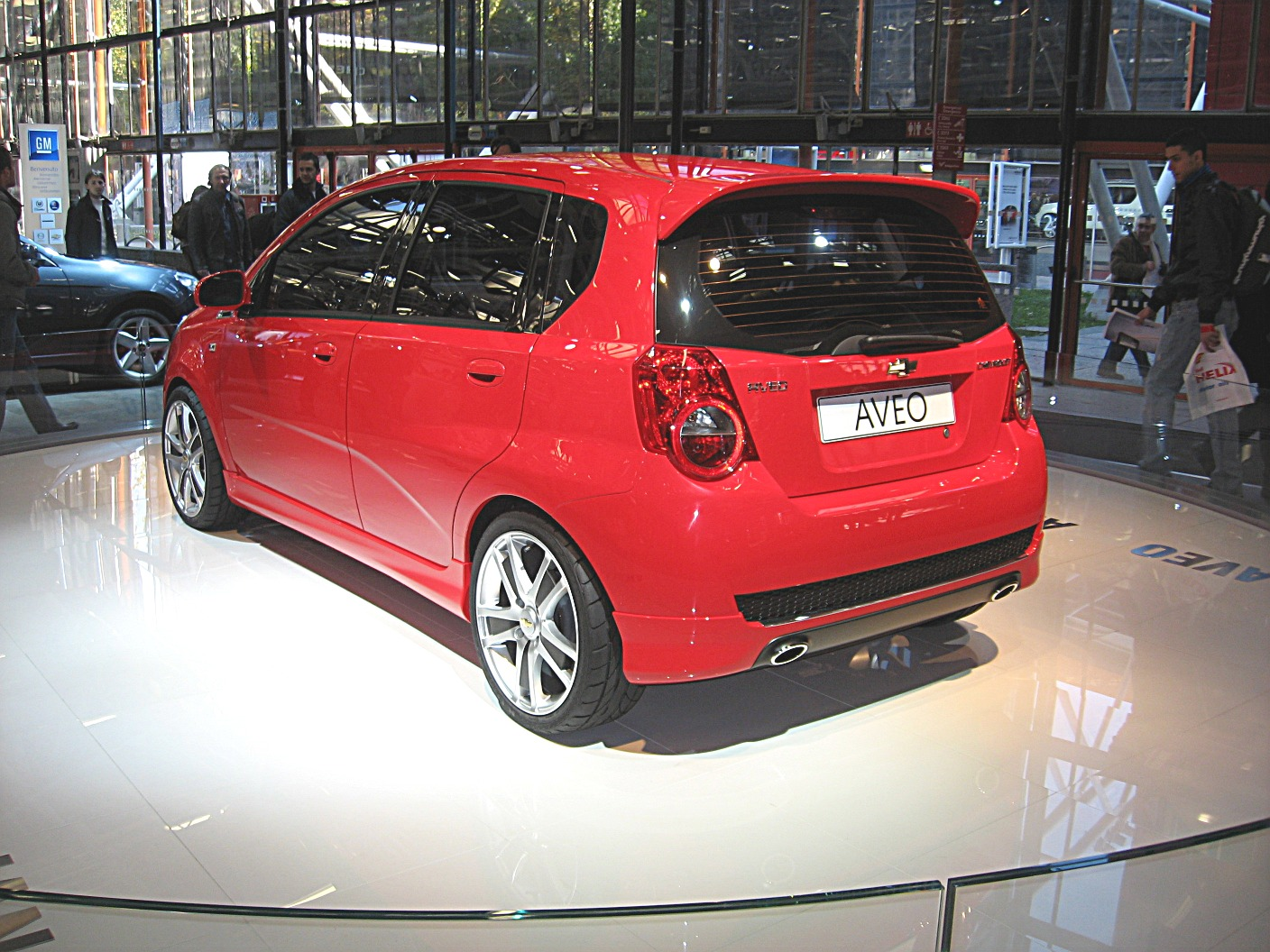 File Chevrolet Aveo My08 Rear View Jpg Wikimedia Commons