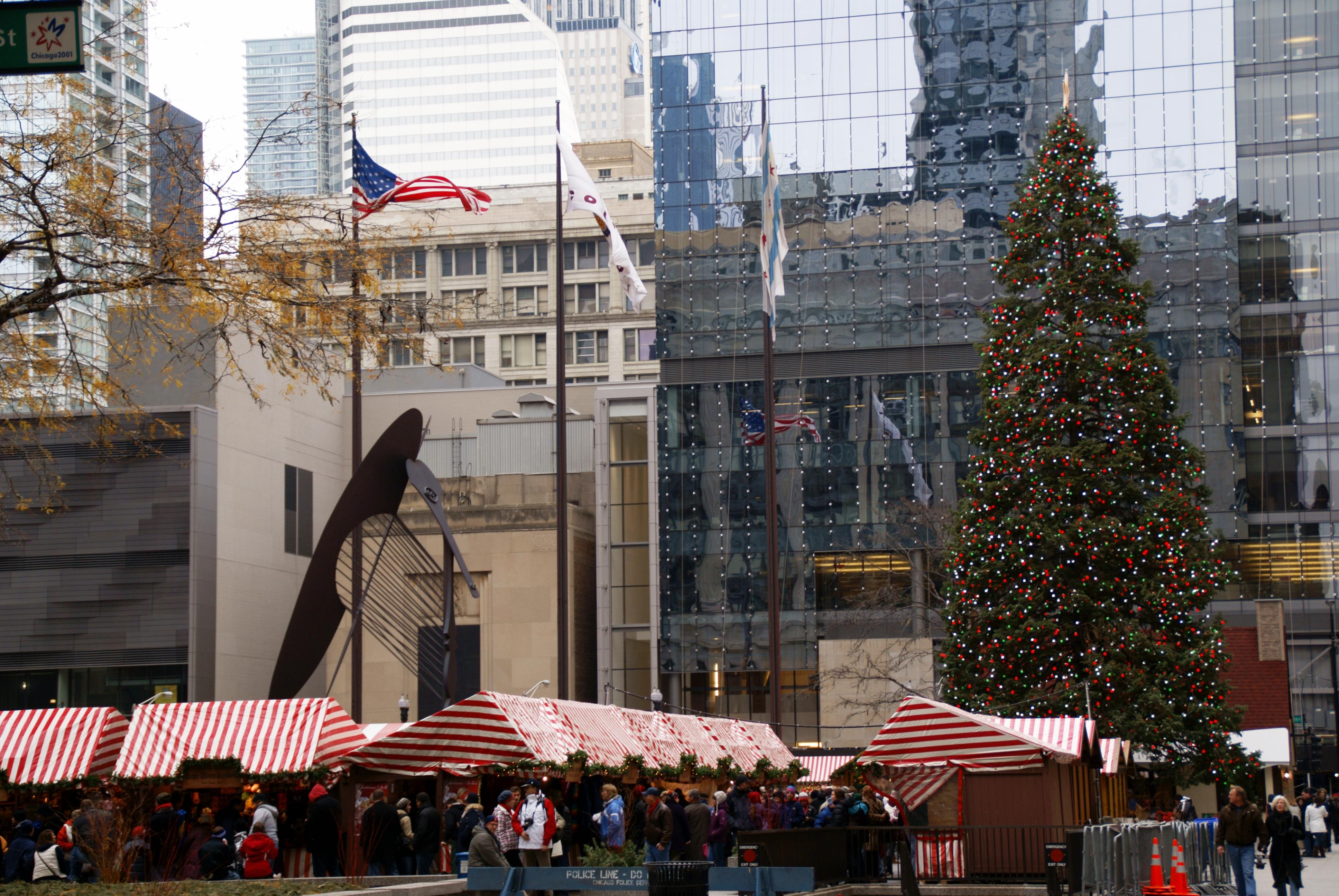 美國芝加哥的聖誕市場