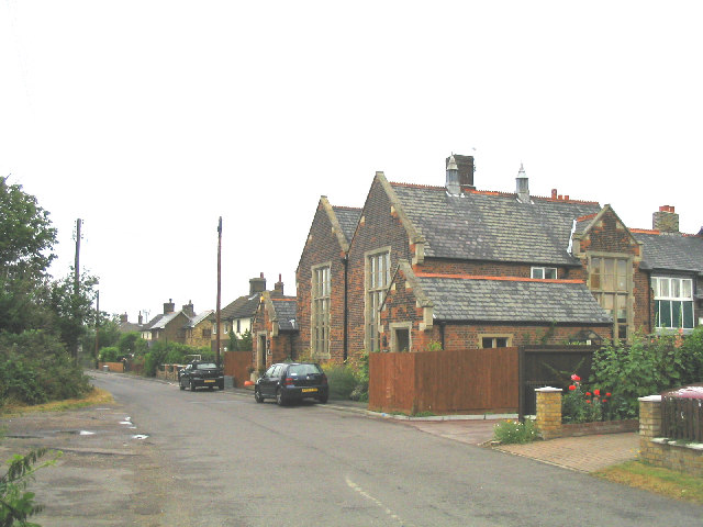Church Lane, North Ockendon, Essex. The building in the centre is the old village school - now converted into houses.