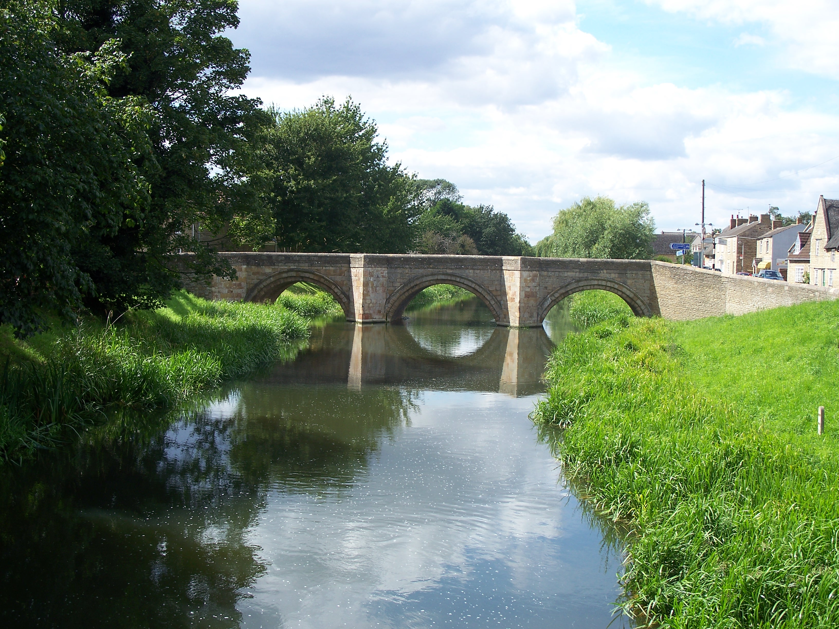 The bridge connecting Deeping St. James and Deeping Gate
