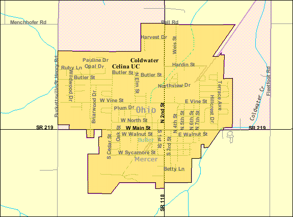 File:Detailed map of Coldwater, Ohio.png   Wikimedia Commons